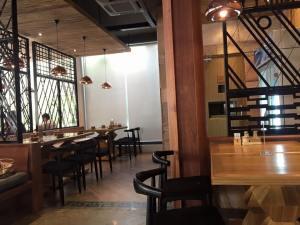 classic design inside the restaurant.