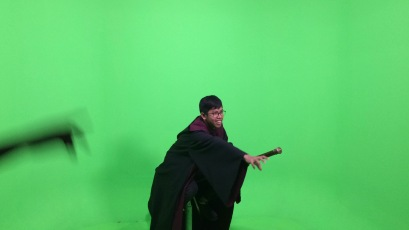 Me filming in Harry Potter scene lol